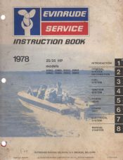 Evinrude Service/Instruction Book 25/35HP 1978